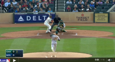 Major League Baseball player wins life by smacking home run off first pitch