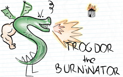 TROGDOR!!! The Homestar Runner team have new cartoon series.
